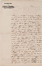 [Texas Revolution]. José Maria Tornel Autograph Letter