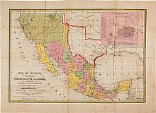 [Map]. Samuel Augustus Mitchell. Map of Mexico Includin