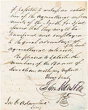 Sam Houston Autograph Letter Signed.