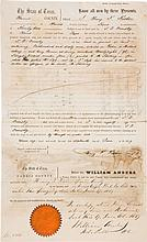 Henry Francis Fisher Autograph Document Twice Signed