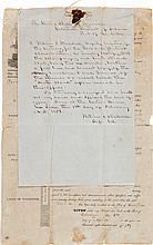 [Steamboat Kate Ward]. Fletcher S. Stockdale Autograph