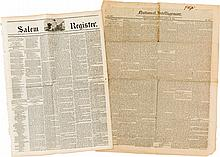 [Texas Annexation]. Two Newspapers: