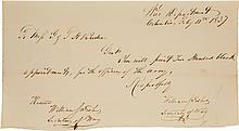 [Republic of Texas]. William Fisher Letter Signed Twice