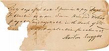 Stephen F. Austin Autograph Promissory Note Signed Twic