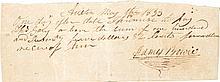 James Bowie Autograph Promissory Note Signed.