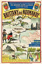 Brittany and Normandy, France Travel Poster (London Bri