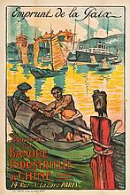French Travel Poster (1920). Poster (30.5