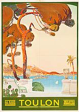 Toulon, France Travel Poster (1922). Poster (29.5