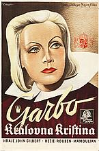 Queen Christina (MGM, 1933). Czech Poster (24.75