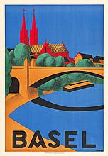 Basel, Switzerland Travel Poster (1937). Poster (27.5