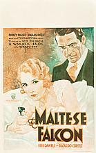 The Maltese Falcon (Warner Brothers, 1931). Window Card