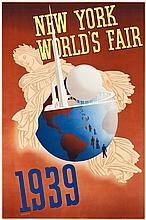 New York World's Fair Travel Poster (Grinnell Litho Co.