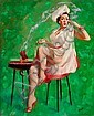 PETER DARRO (American, b. 1917) PIn-Up with BBQ Grill O, Peter  Darro, Click for value