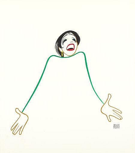 AL HIRSCHFELD (American, 1903-2003) Liza Minnelli, 1999 Gouache and ink on illustration board 22 x 19.5 in. Signed lower right PROVENANCE: Margo Feiden Galleries Ltd.; Collection of Al Hirschfeld, New York. EXHIBITED: Nassau County Museum of Art,