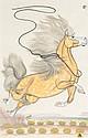 QUINCY TAHOMA (NAVAJO, 1920 - 1956) The Runaway Stallio