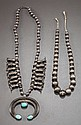 TWO NAVAJO SILVER NECKLACES c. 1950