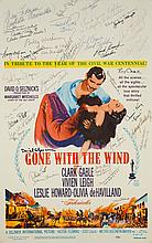 A Cast Signed 1961 Re-Release Window Card from