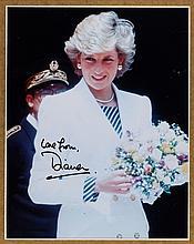 A Princess Diana Signed Color Photograph, 1996.
