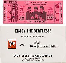 Beatles Unused Concert Ticket with Original Envelope, S