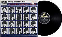 Beatles A Hard Days Night  Stereo LP (UK - Parlophone 3