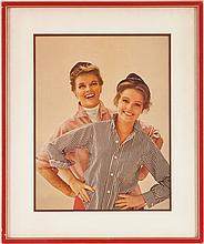 A Katharine Hepburn and Katharine Houghton Framed Color