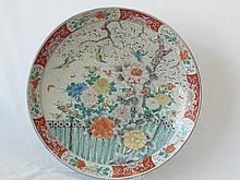 Antique 1800s Chinese Huge 21 ¾ Inch Diameter Famille Rose Medallion Hand Enameled Charger Platter. Well over 150 Years Old