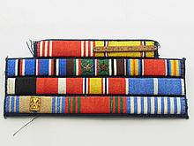 Two United States US Military War Foreign Service Ribbon Cluster
