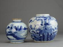 A Pair of Small Jars Market Tongzhi Period