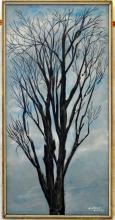 An Oil Painting  A Tree in Winter