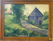 An Oil Painting   A Villege House