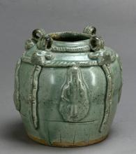 A Ming Longquan celadon jar