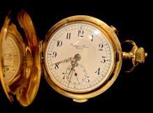 14k Gold Hunter case Pocket Watch