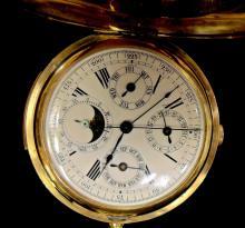 18k Gold Hunter Case Pocket Watch