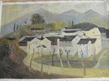 An Oil-painting of a Town in South (Guan-zhong Wu's Style)