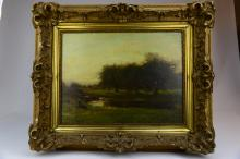 An Oil Painting of Landscape by Arthur Streeton