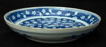 Chinese Blue and White Painted Plate
