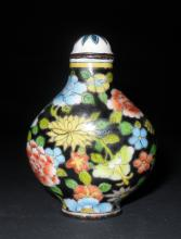 Chinese Enameled Bronze Snuff Bottle