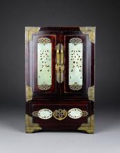 A Rosewood Jewel Cupboard