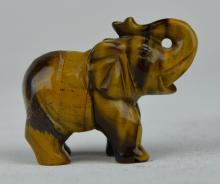 A Tiger-eye's Stone Elephant