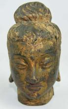 A Bronze Head Scupture