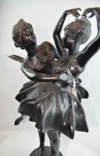 A Bronze Sculpture of Angels Dancing