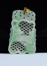 A Jadeite Hollow-carved Pendant