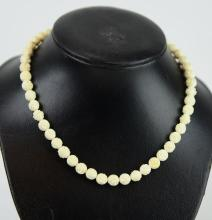 A Bone Carved Necklace