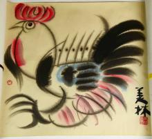 Analog Painting A Cock maked Han Mei-ling