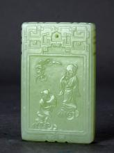 A carved jade pendant