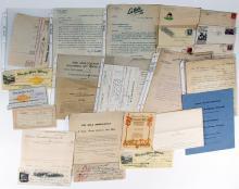 Large California Mining Ephemera Collection: Billheads, Checks, Letters, Covers, Etc.