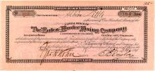 The Bates-Hunter Mining Company Stock Certificate