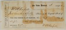 Territorial Colorado Mining Document to WH Russell (Stagecoach Pioneer)