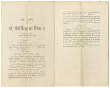 By-Laws of Ruby Chief Mining and Milling Company