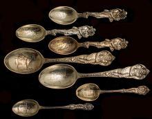 Seven Colorado Sterling Silver Spoons